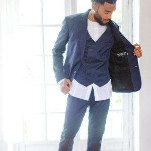 costume bleu trois pièces | wedding planner paris ile de france