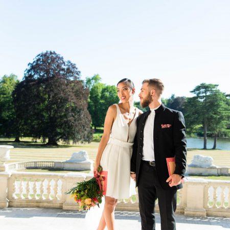 couple amoureux pour mariage intimiste au château | des bulles et des étoiles wedding planner paris ile de france val d'oise